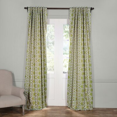 Alcott Hill Sagebrush Geometric Blackout Thermal Rod Pocket Single Curtain Panel