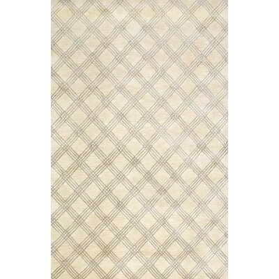 Napoleon Hand-Tufted Ivory Area Rug Rug Size: Runner 26 x 8
