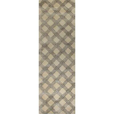 Alcott Hill Napoleon Hand-Tufted Ivory Area Rug