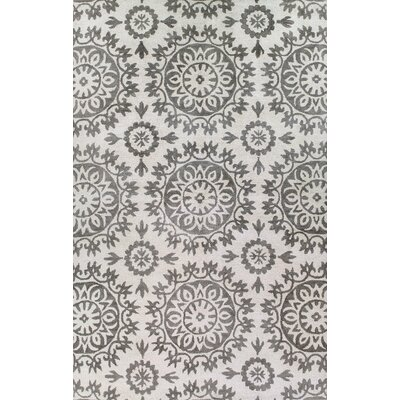 Nathaniel Hand-Tufted Ivory/Taupe Area Rug Rug Size: Runner 26 x 8
