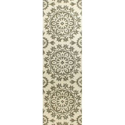 Alcott Hill Nathaniel Hand-Tufted Ivory/Taupe Area Rug