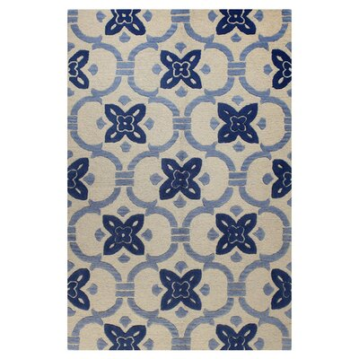Nesmith Hand-Tufted Ivory Area Rug Rug Size: 36 x 56