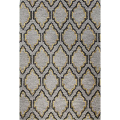 Nettie Hand-Tufted Grey Area Rug Rug Size: 36 x 56