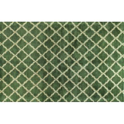 Nicoll Green Area Rug Rug Size: 56 x 86