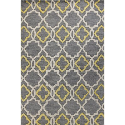 Noel Hand-Tufted Grey Area Rug Rug Size: 86 x 116
