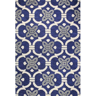 Alcott Hill Nollet Hand-Tufted Navy Area Rug