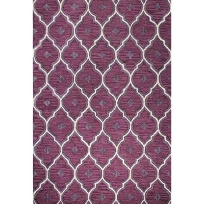 Norgate Hand-Tufted Lilac Area Rug Rug Size: 76 x 96