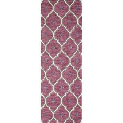 Norgate Hand-Tufted Lilac Area Rug Rug Size: Runner 26 x 8