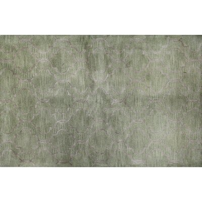 Norine Hand-Tufted Light Green Area Rug Rug Size: Runner 26 x 8