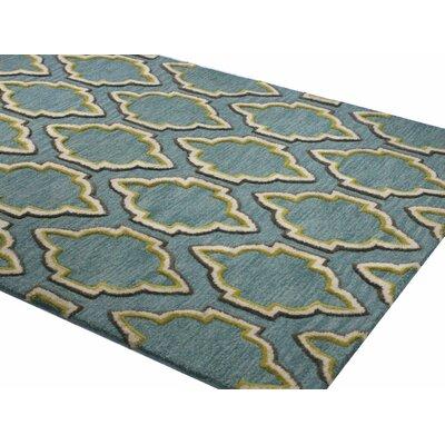 Norman Hand-Tufted Aqua Area Rug Rug Size: 36 x 56