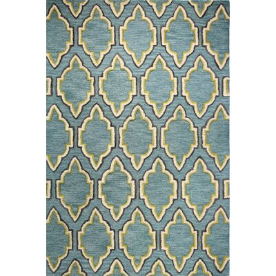 Alcott Hill Norman Hand-Tufted Aqua Area Rug