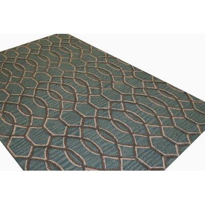 Norris Hand-Tufted Aqua Area Rug Rug Size: Runner 26 x 8