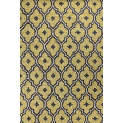 Noyes Hand-Tufted Gold Area Rug Rug Size: Runner 26 x 8