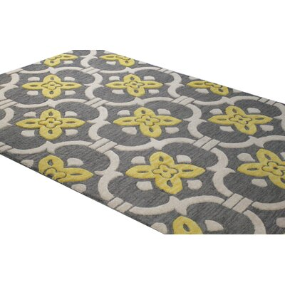 Oakhill Hand-Tufted Grey Area Rug Rug Size: 36 x 56
