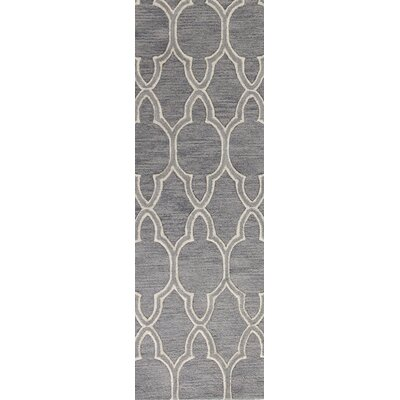 Octavia Hand-Tufted Grey Area Rug Rug Size: Runner 26 x 8