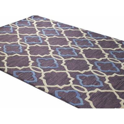 Odell Hand-Tufted Lilac Area Rug Rug Size: 76 x 96
