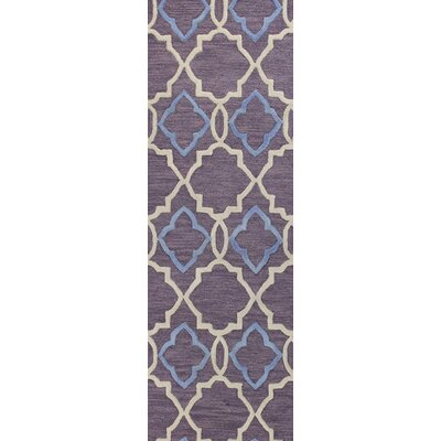 Odell Hand-Tufted Lilac Area Rug Rug Size: 3'6