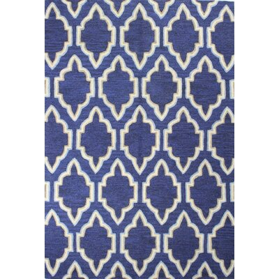 Hermanson Hand-Tufted Navy Area Rug
