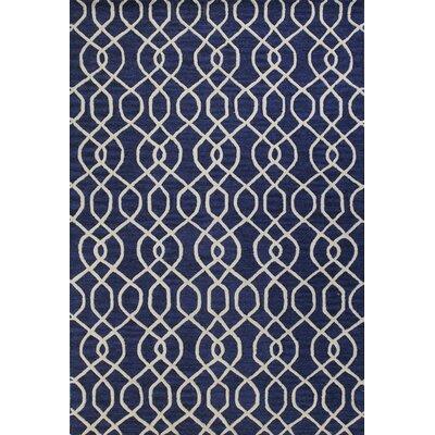 Hernandes Hand-Tufted Navy Area Rug Rug Size: 36 x 56
