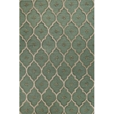 Herndon Hand-Tufted Light Green Area Rug Rug Size: 36 x 56