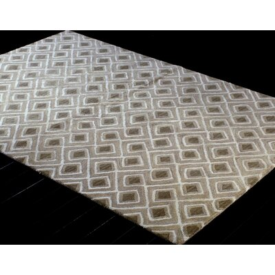 Alcott Hill Heyworth Hand-Tufted Taupe Area Rug
