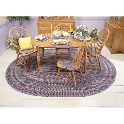 Lettie Winter Blues Area Rug Rug Size: Oval 12 x 15