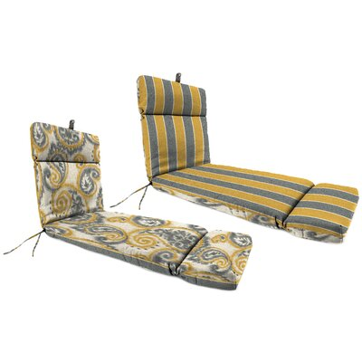 Outdoor Chaise Lounge Cushion Fabric: Wickenburg Stripe Patina / Sorista Patina