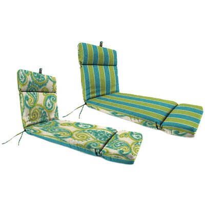 Outdoor Chaise Lounge Cushion Fabric: Wickenburg Teal / Sorista Teal