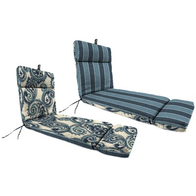 Outdoor Chaise Lounge Cushion Fabric: Wickenburg Indigo/Sorista Indigo