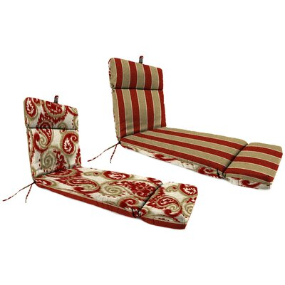 Outdoor Chaise Lounge Cushion Fabric: Wickenburg Cherry / Sorista Cherry