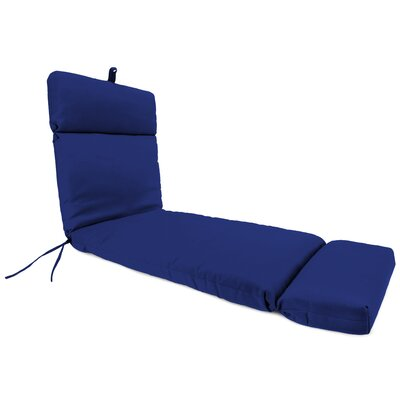 French Edge Outdoor Chaise Lounge Cushion Fabric: Veranda Cobalt