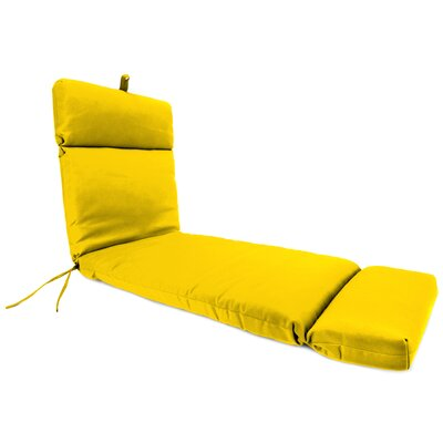 Outdoor Chaise Lounge Cushion Fabric: Veranda Lemon