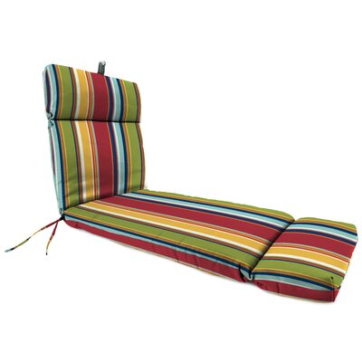 French Edge Outdoor Chaise Lounge Cushion Fabric: Westport Garden