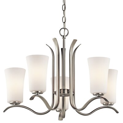 Guerro 5-Light Shaded Chandelier Finish: Brushed Nickel