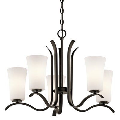 Guerro 5-Light Shaded Chandelier Finish: Old Bronze