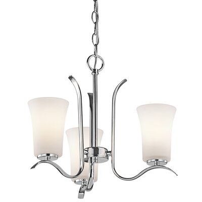 Guerro 3-Light Shaded Chandelier Finish: Chrome