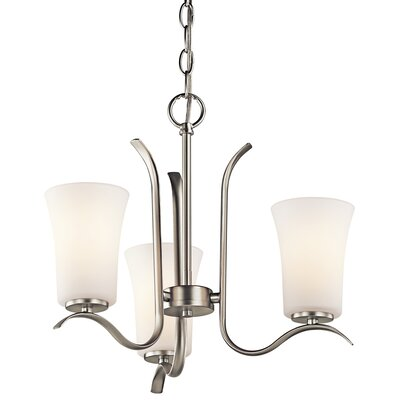 Guerro 3-Light Shaded Chandelier Finish: Brushed Nickel