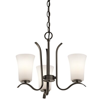 Guerro 3-Light Shaded Chandelier Finish: Old Bronze