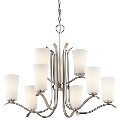 Guerro 9-Light Shaded Chandelier Finish: Brushed Nickel