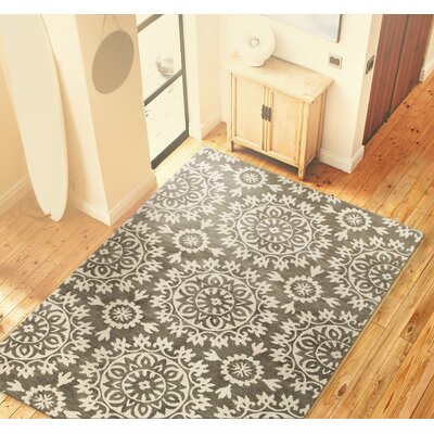 Highwood Hand-Tufted Taupe Area Rug Rug Size: 39 x 59