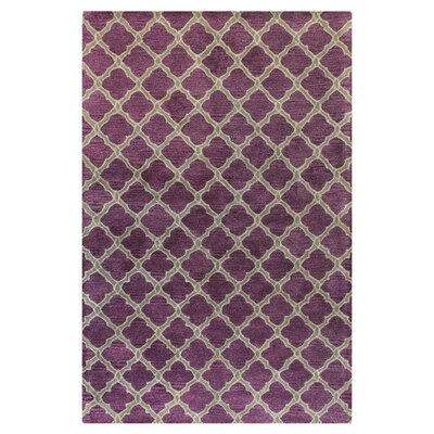 Hillside Hand-Tufted Lilac Area Rug Rug Size: 86 x 116