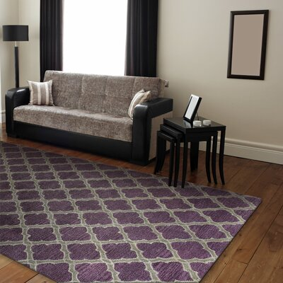 Alcott Hill Hillside Hand-Tufted Lilac Area Rug
