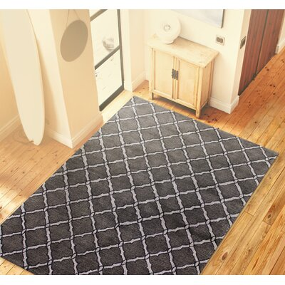 Hindsboro Hand-Tufted Pewter Area Rug Rug Size: 39 x 59