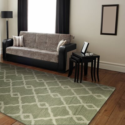 Hinsdale Hand-Tufted Light Green Area Rug Rug Size: 56 x 86