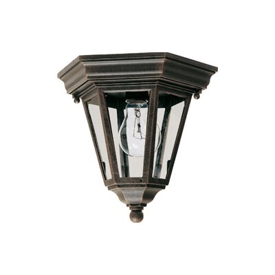 Listermann 1-Light Flush Mount Finish: Rust Patina