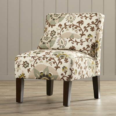 Thurston Uphosltered Slipper Chair Color: Silsila Rhinestone