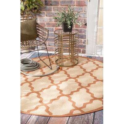 Sidell Red Indoor/Outdoor Area Rug Rug Size: Round 63