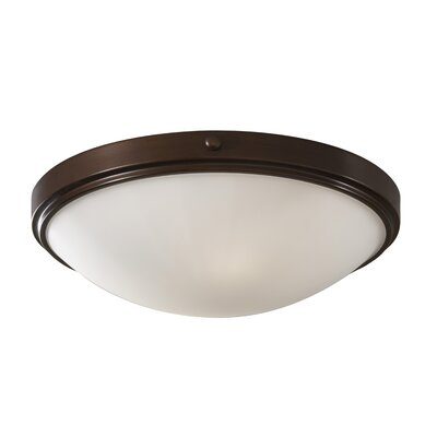 Clouser 2-Light Flush Mount Shade Size: 14.125 W