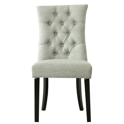 Steverson Side Chair Upholstery: Light Gray