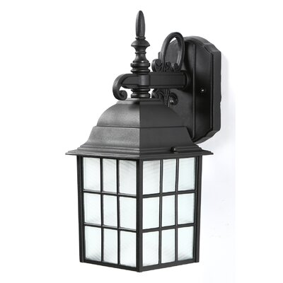 Stalbridge 1-Light Outdoor Wall Lantern Finish: Black